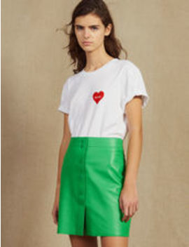 Neon Leather Skirt by Sandro Eshop