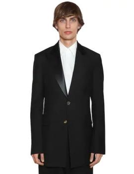 2 Bt Wool Tuxedo Jacket W/ Satin by Loewe