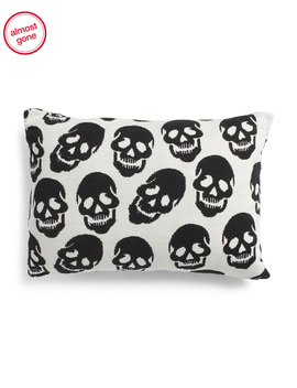 16x24 Skulls Pillow by Tj Maxx