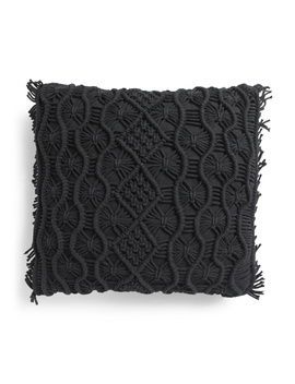 20x20 Macrame Tassel Pillow by Tj Maxx