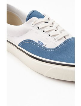 Vans White Red & Navy Anaheim Factory Era 95 Dx Shoes by Pacsun