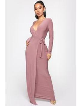 Vivi Maxi Wrap Dress   Mauve by Fashion Nova