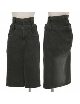 (Sale) Limi Feu Double Waist Denim Skirt Size Xs(K 39002) by Ebay Seller