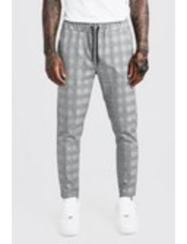 Check Detail Smart Jogger Trouser by Boohoo Man