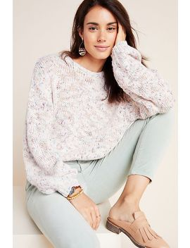 Speckled Boat Neck Pullover by Anthropologie