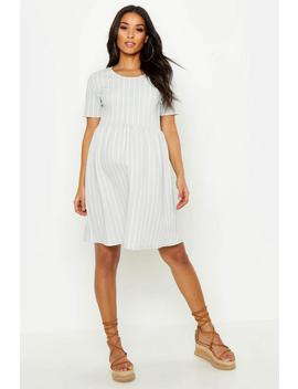 Maternity Stripe Smock Dress by Boohoo