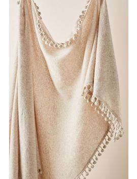 Pommed Cashmere Triangle Scarf by Captiva Cashmere