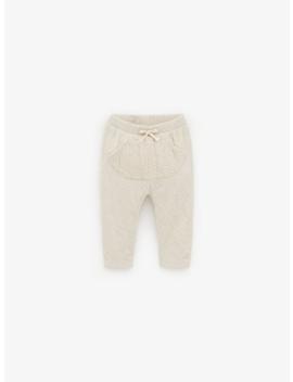 Textured Plush Trousers  Trousersmini by Zara