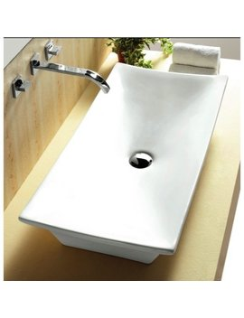 Caracalla Ca4277 Ceramica Ceramic Rectangular Vessel Bathroom Sink by Caracalla