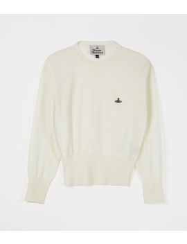 Classic Knit Sweater White  by Vivienne Westwood