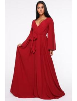 Sweet As Pie Maxi Dress   Burgundy by Fashion Nova