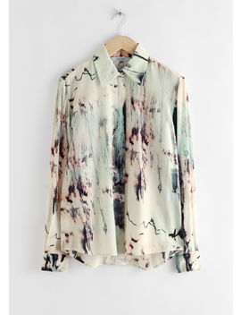 Watercolour Button Up Shirt by & Other Stories