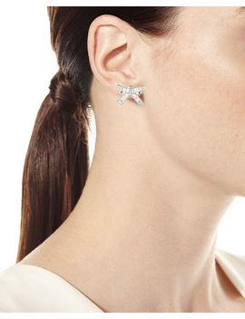 Bow Baguette Stud Earrings by Fallon