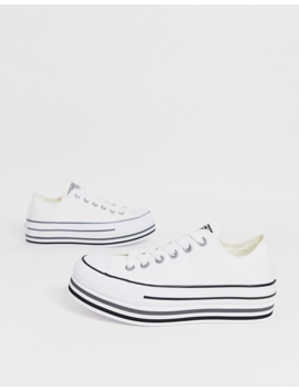 Converse Chuck Taylor Ox All Star Platform Layer Sneakers In White by Converse