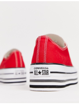 Converse Chuck Taylor All Star Platform Layer Red Sneakers by Converse