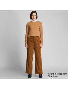 High Waisted Corduroy Wide Straight Pants by Uniqlo