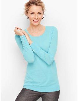 Gathered Shoulder Merino Sweater by Talbots