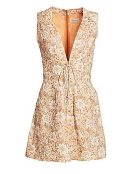 Zippy Floral Linen Mini Dress by Zimmermann