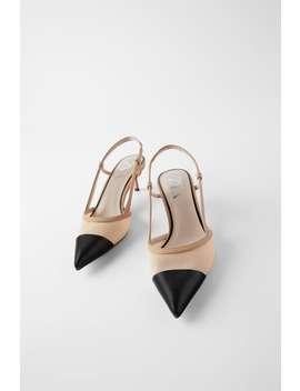 Mesh Slingback Heels High Heels Shoes Woman by Zara