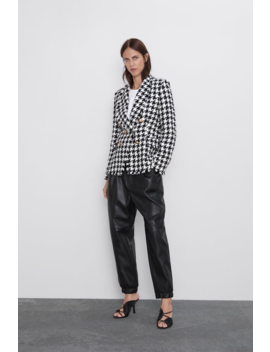 Houndstooth Jacket Blazerswoman by Zara