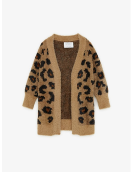 Animal Print Knit Cardigan New Ingirl by Zara