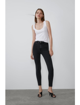 Super Elastic Hi Rise Jeggings View All Jeans Woman by Zara