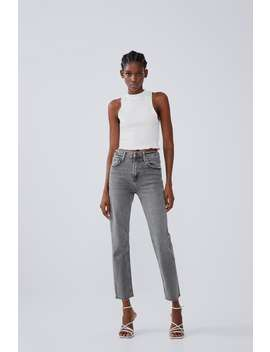 Slim Fit Hi Rise Jeans View All Jeans Woman by Zara