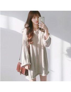 Hyaku   Long Sleeve Sweater Dress by Hyaku
