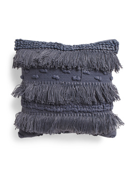 18x18 Textured Fringe Pillow by Tj Maxx