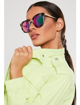 Quay Australia Shook Brown Round Sunglasses by Missguided