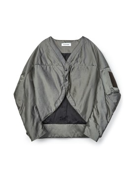 Kiko Kostadinov Cocoon Flight Jacket (Silver) by Dover Street Market