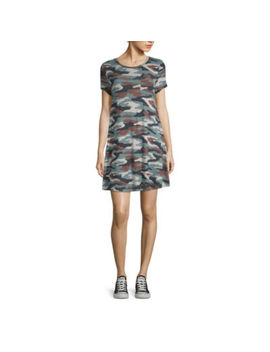 Arizona Short Sleeve Camouflage T Shirt Dresses by Arizona