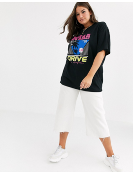Missguided Plus Oversized T Shirt With 80s Graphic Print In Black by Missguided