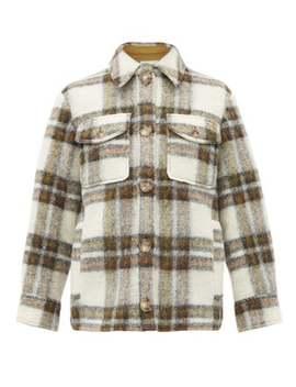 Gaston Oversized Checked Wool Blend Coat by Isabel Marant Étoile