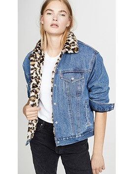 Oversized Reversible Faux Fur Trucker Jacket by Levi's
