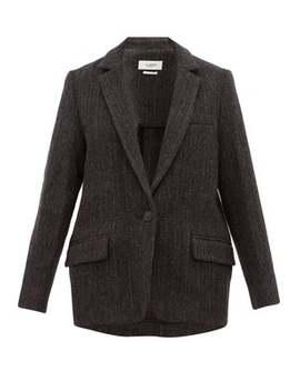 Charly Herringbone Tweed Virgin Wool Jacket by Isabel Marant Étoile