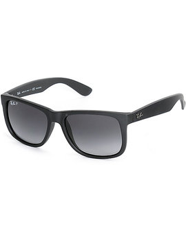 Ray Ban Justin Black Rubber Polarized Sunglasses by Ray Ban