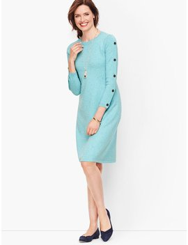 Tweed Button Detail Sweater Dress by Talbots