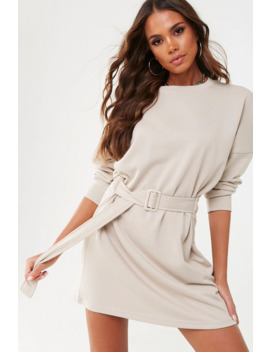 missguided-belted-sweatshirt-dress by forever-21