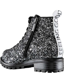 Veatrice Glitter Combat Boot by Nina