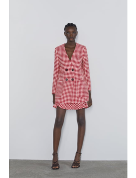 Houndstooth Frock Coat Coord Sets Woman by Zara
