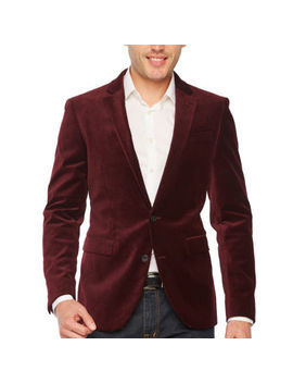 Jf J.Ferrar Velvet Stretch Super Slim Fit Sport Coat by Jf J.Ferrar
