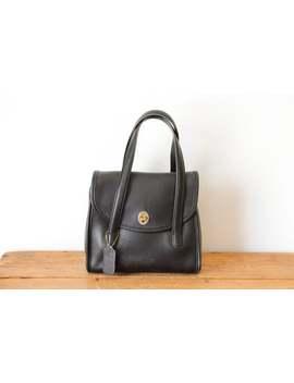 coach-belmont-satchel-handbag-9088-_-coach-dual-handle-purse-_-small-black-leather-handbag-120218-32 by etsy
