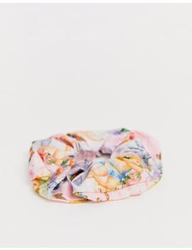 Asos Design Large Scrunchie In Cherub Print by Asos Design