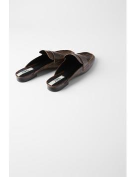 Animal Print Mule Loafers by Zara