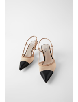 Mesh Slingback Heels by Zara