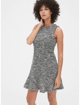 Fit And Flare Dress In Boucle by Gap