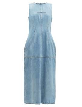 Open Back Panelled Denim Dress by Mm6 Maison Margiela