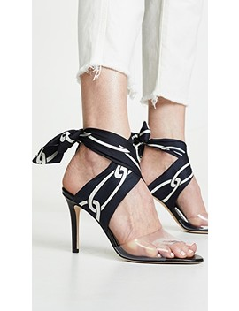 Chain Print Ankle Wrap Sandals by Monse