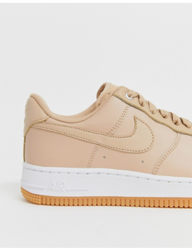 Nike Beige Gum Sole Air Force 1 '07 Premium Trainers by Nike
